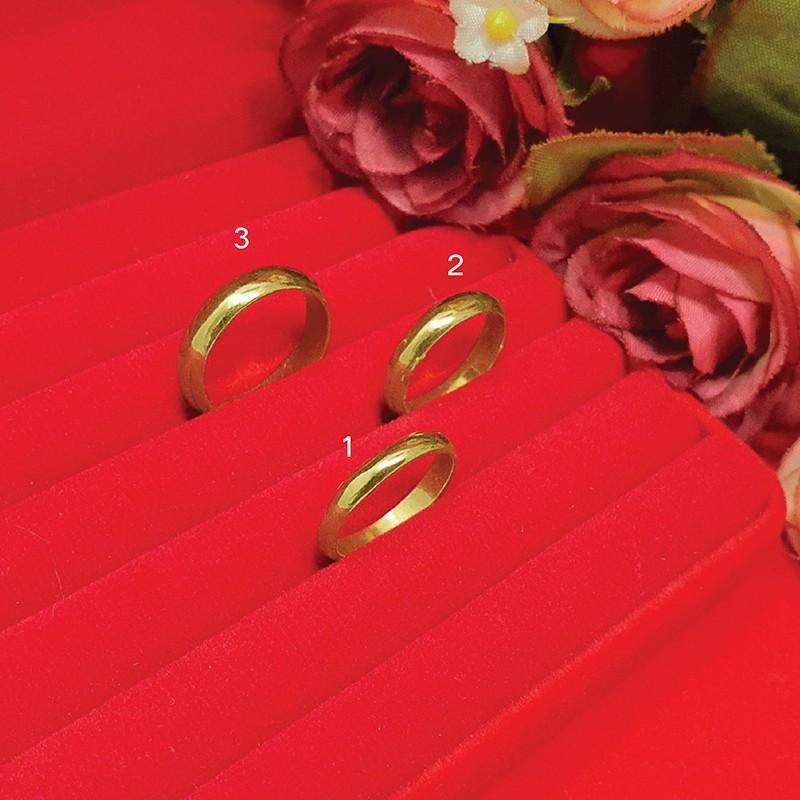 แหวนเกลี้ยง แหวนทอง แหวนปลอกมีด 3, 4มิล ครึ่งสลึง 5มิล 1, 2สลึง แหวนทองเหลืองแท้ ใส่แทนแหวนทองแท้ได้ ชุบเศษทอง ทองไมครอน