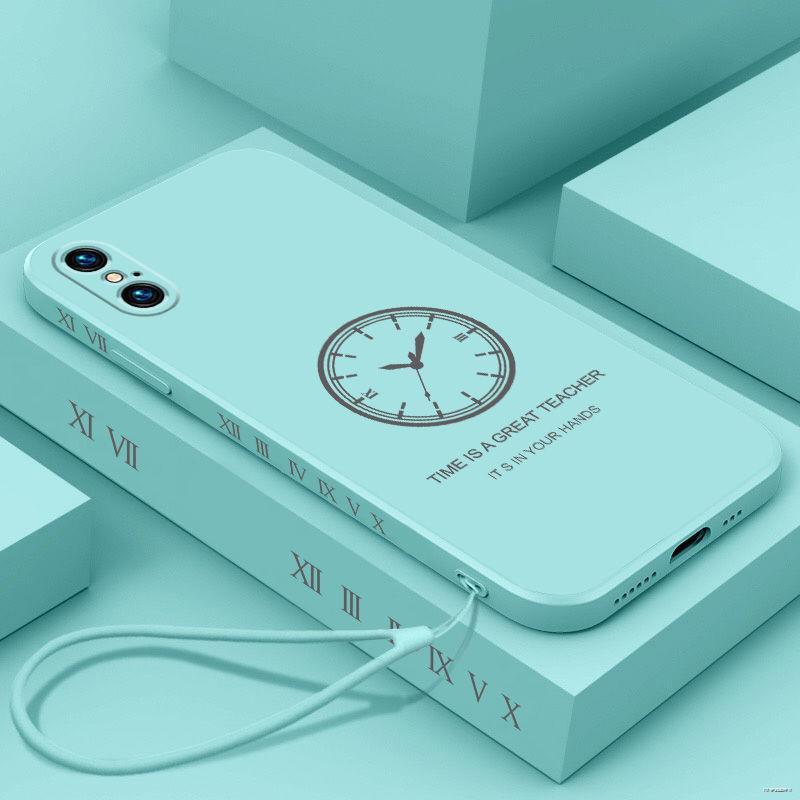 ยางยืดออกกําลังกาย♤☋❈(มือถือ ฟิล์มนิรภัย)  Apple x โทรศัพท์มือถือเปลือก XsMax สร้างสรรค์ SE2 สุทธิสีแดง 8plus ลายด้านข้