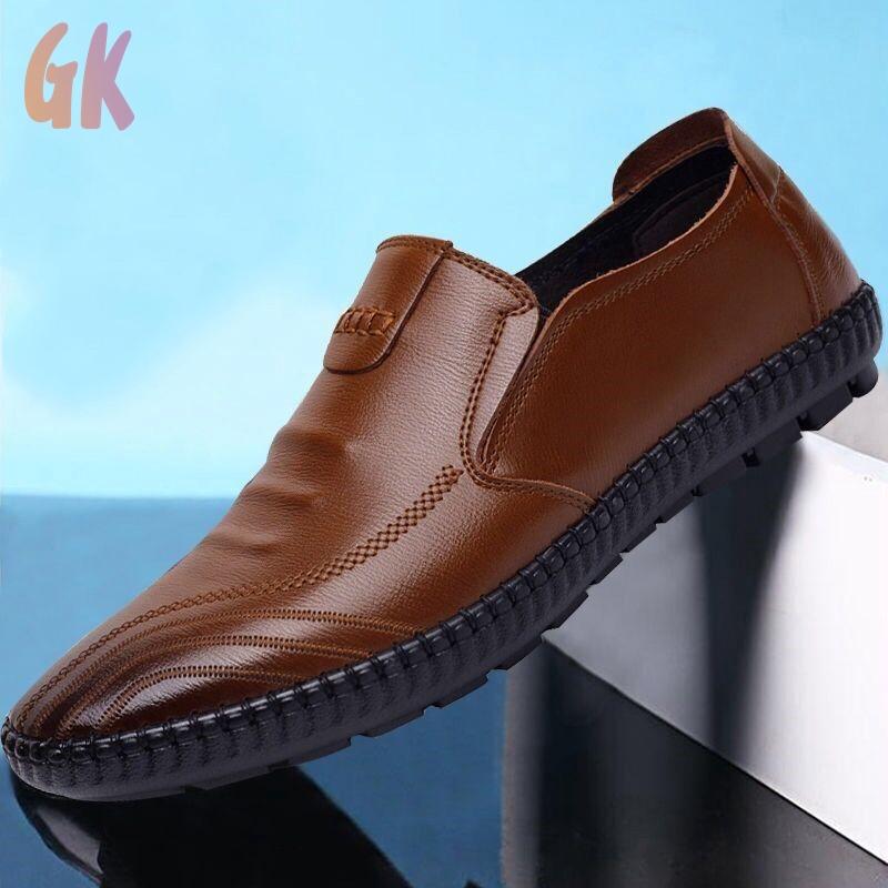 GKD✔ รองเท้า รองเท้าโลฟเฟอร์ ผู้ชาย รองเท้าคัชชู รองเท้าหนังแบบผูกเชือก รองเท้าหนังแฟชั่น รองเท้าหนังแท้ loafer 05