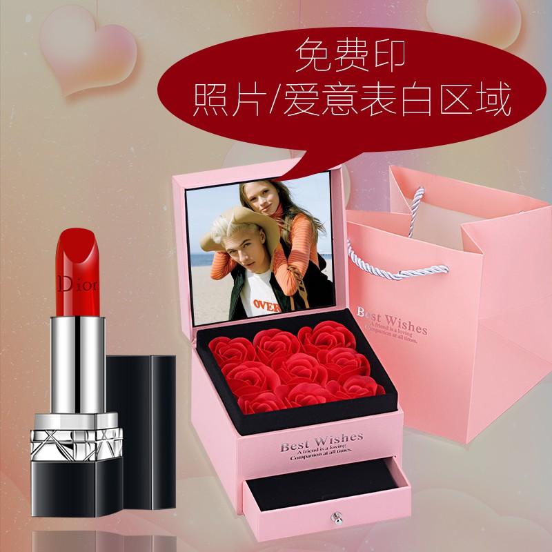 ลิปสติก Dior✙[รูปภาพที่พิมพ์ฟรี] Dior Dior Lipstick 999 Moisturizing Matte 888 สำหรับวันเกิดเพื่อนภรรยาและลูกสาว