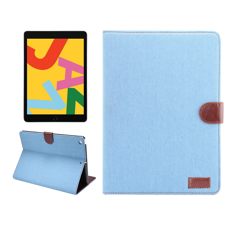 iPad Air 2019 10.2 10.5 inch 7th Generation 2020 Flip Case with Apple Pencil Holder Denim Silicone Card Slots Stand Cover