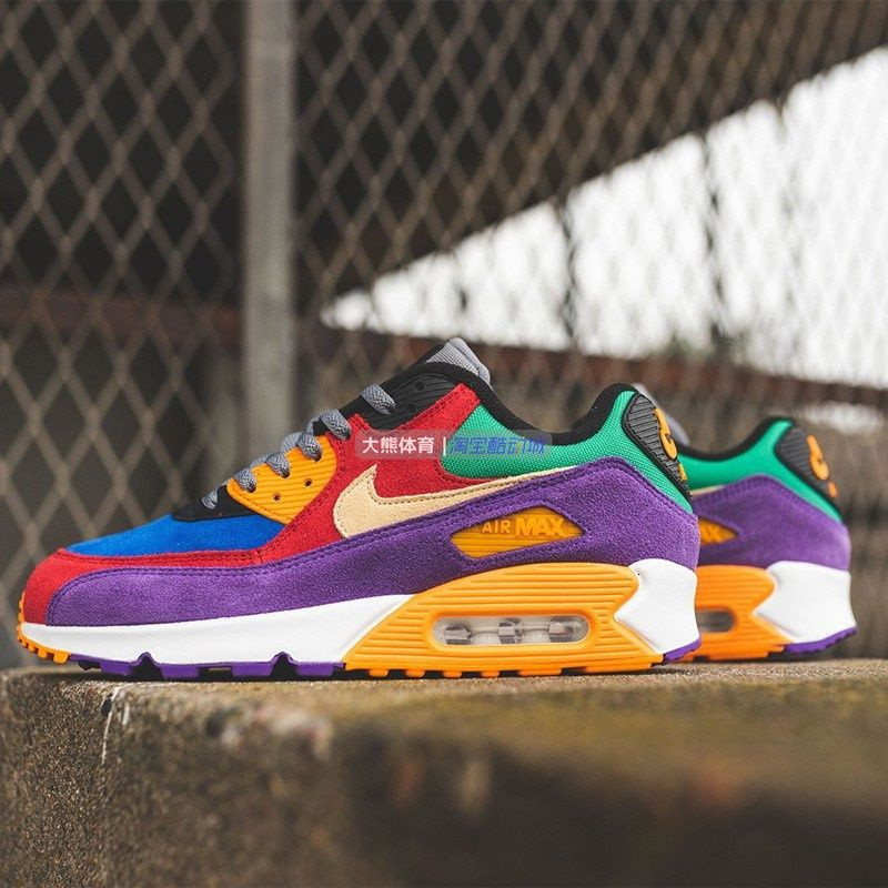 OriginalNIKE Air Max 90 Easter Egg Retro Stitching Sports Casual Shoes Men's and Women's Sneakers CD0917-600 nike runnin