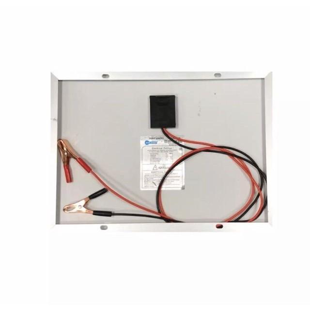โคมไฟ led ชุดแผงโซล่าเซลล์โพลี 10 W ชุดนอนนา/แบตเตอรี่ 12V5A /pwm 10/20/30A /หลอด LED 12V 7W RDCx