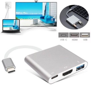 Review USB 3.1 Type-C to HDTV HDMI/USB 3.0/Type C Converter Cable Adapter for Macbook