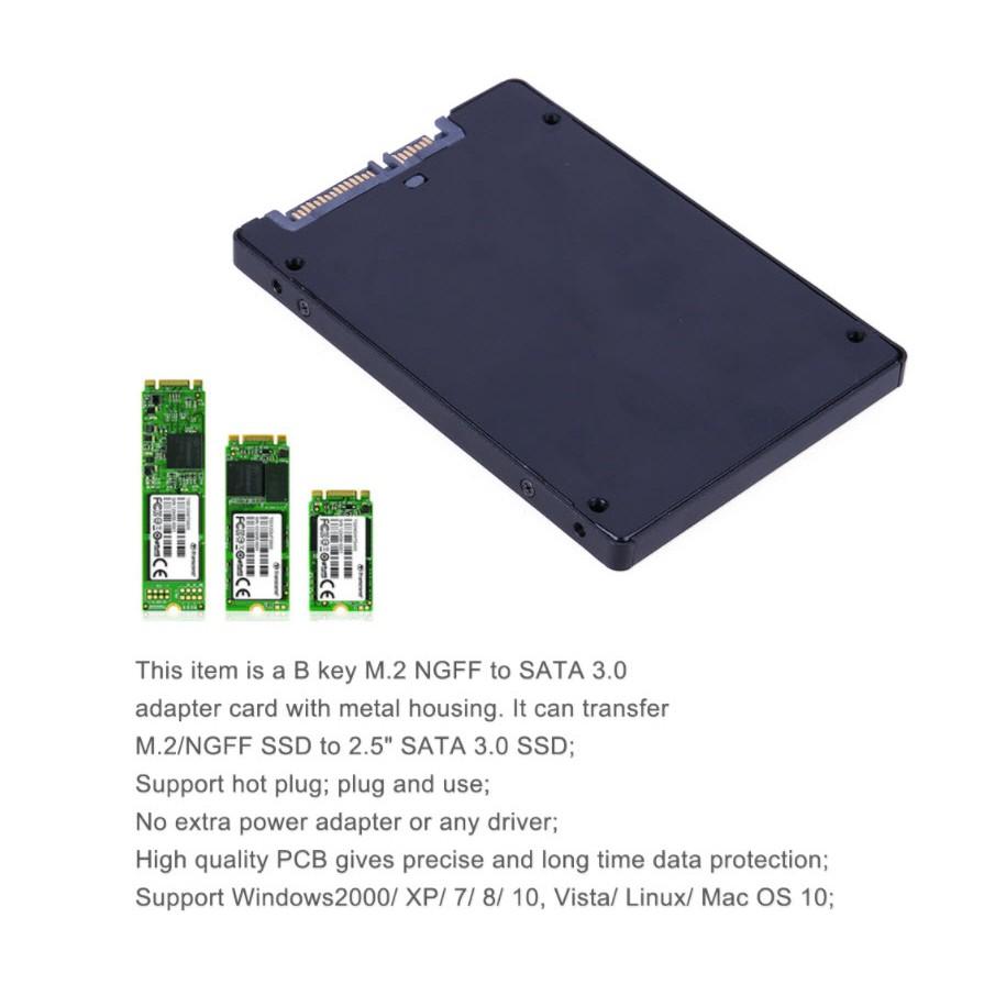 (S103-1N-2) B key M 2 NGFF to 2 5 SATA 3 0 SSD Adapter/Enclosure(138921)