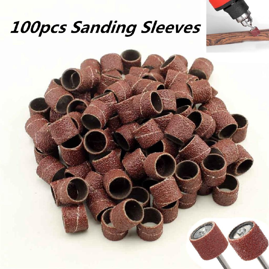 "4/"" X 7/"" SANDING SLEEVES FOR INFLATABLE SANDING DRUMS-FIVE PACK 80 GRIT"