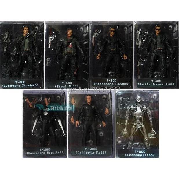 "NECA The Terminator 2 Action Figure T800 ENDOSKELETON Classic Figure Toy 7""18cm 7Styles"