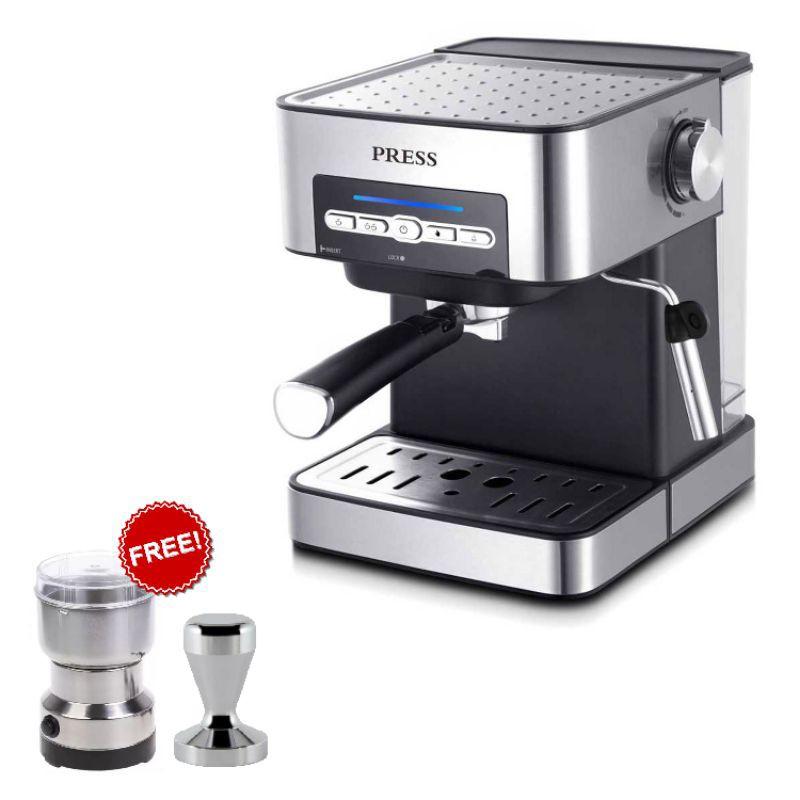 เครื่องชงกาแฟ เครื่องชงกาแฟสด PRESS 850W 1.6ลิตร COFFEE MACHINE เครื่องทำกาแฟ เครื่องชงกาแฟอัตโนมัติ