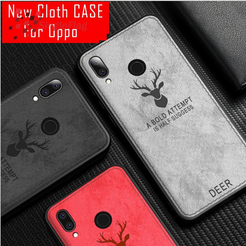 3D Emboss Soft Cloth Cover Deer Elk Android Phone Case For OPPO A7 A7x A79  A83
