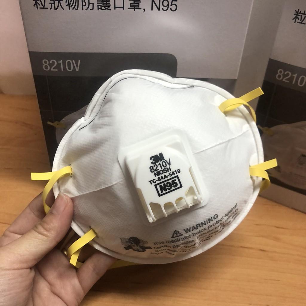 3M 8210V N95 (กล่อง10ชิ้น) หน้ากากป้องกันฝุ่นชนิดมีวาล์ว Mask 3M Valved Respirator 8210V ของแท้ 100% ส่งฟรี!! Hl29