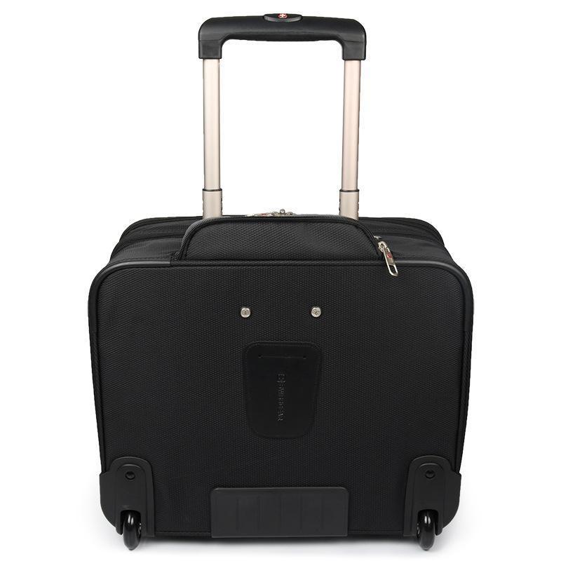 Swissgear กระเป๋าเดินทางล้อลากผ้าอ๊อกซ์ฟอร์ดขนาดมินิ 16 นิ้วสําหรับผู้ชายและผู้หญิง