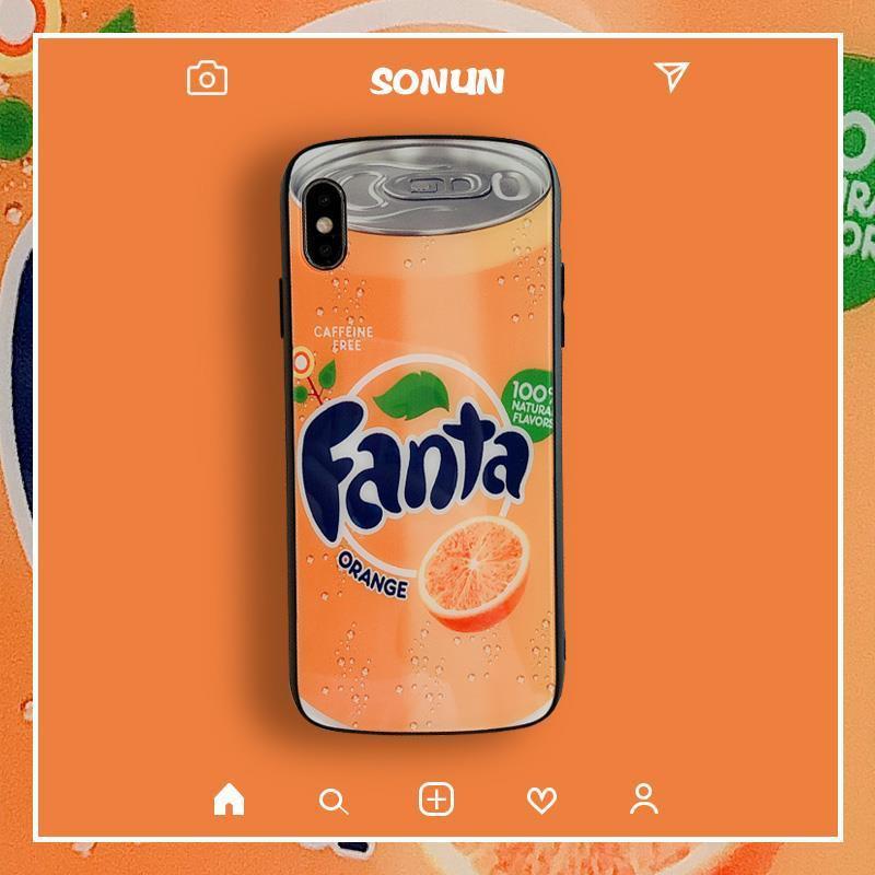 เคสโทรศัพท์มือถือ Creative Fanta Sprite iPhone 11pro net red apple xs max รวมทุกอย่างขอบดรอป xr