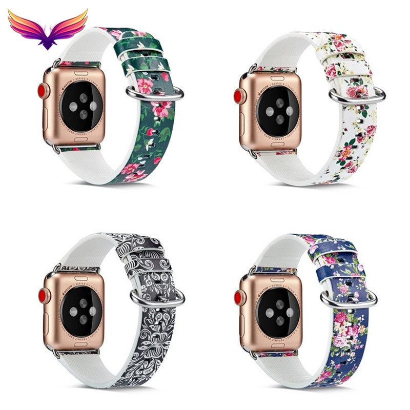 นาฬิกาข้อมือสายหนังสําหรับ Applewatch