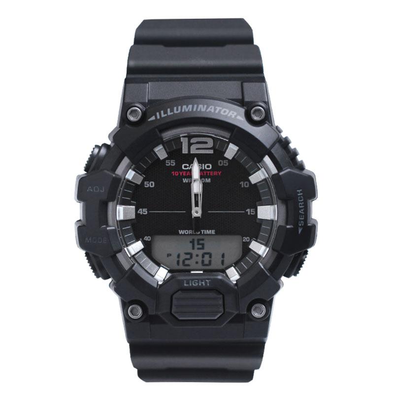 นาฬิกา casio Casiocasioสิบปีของนักเรียนไฟฟ้าแนวโน้มของผู้ชายนาฬิกากีฬาจอแสดงผลคู่HDC-700-1A/3A2/3A3 soZP
