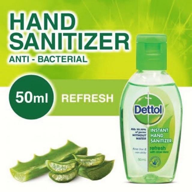 เจลล้างมือ dettol 50 ml.