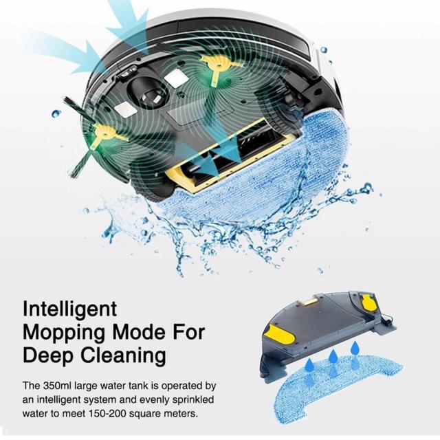 The Elektrika iBOT รุ่น (S2-R) หุ่นยนต์ดูดฝุ่น อัจฉริยะ (Intelligent Robot Vacuum Cleaner) ระบบ Hybrid กวาด ดูด ถูพื้น y