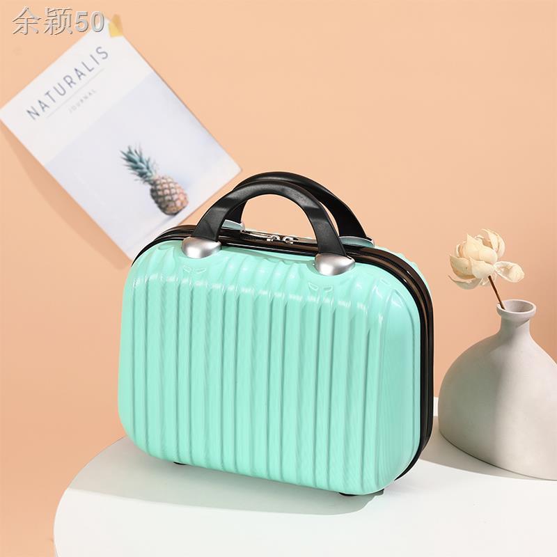 ◕โถส้วมเก็บเครื่องสำอาง น่ารัก เวอร์ชั่นเกาหลี กระเป๋าเดินทาง 14 นิ้วกรณีเครื่องสำอางกระเป๋าเดินทางกระเป๋าเดินทางขนาดเล็