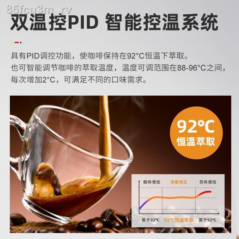 ☾☈เครื่องชงกาแฟกึ่งอัตโนมัติแบบเยอรมัน Derlla เครื่องทำฟองนมแบบบูรณาการขนาดเล็กของอิตาลีในครัวเรือนถั่วบดสดเครื่องชงกาแฟ