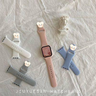 สายนาฬิกาอัจฉริยะ สาย applewatch สายนาฬิกา applewatch สายนาฬิกา Suitable for AppleWatch silicone table with candy color