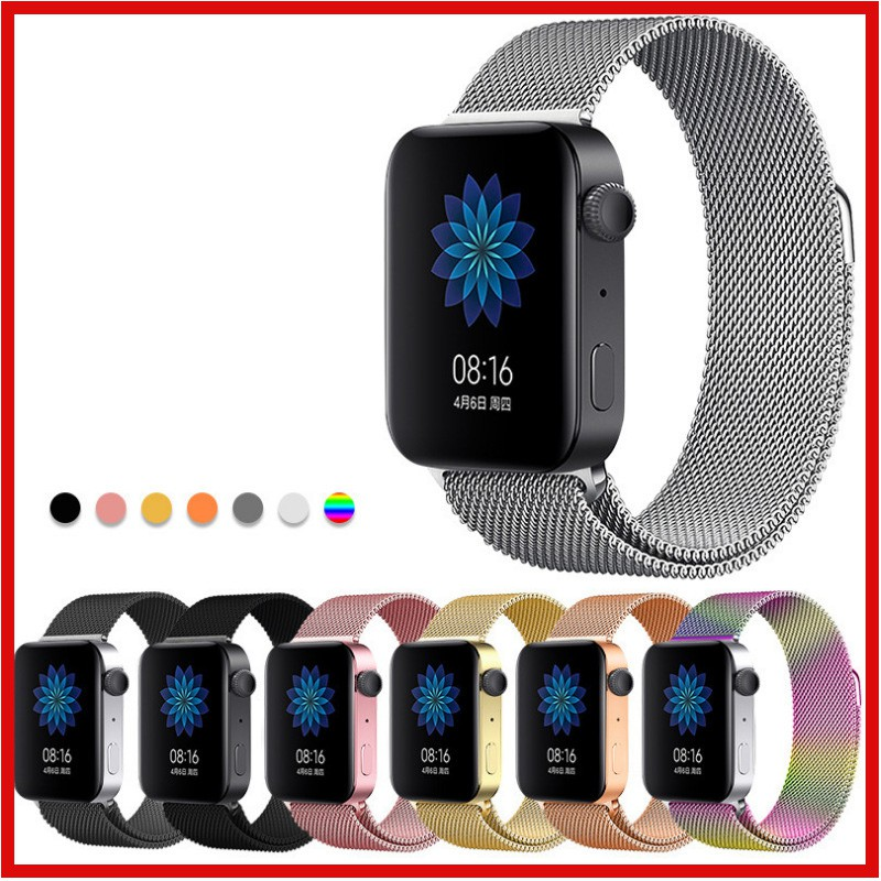 Milanese Stainless Steel Magnetic Band Apple Watch 38mm/40mm 42mm/44mm Strap Series 6 SE 5 4 3 2 Band iWatch Bracelet