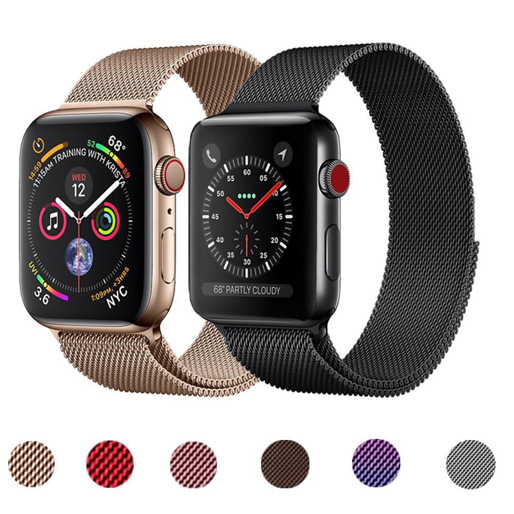 สายนาฬิกา Apple Watch Iwatch Milanese เหล็กกล้าไร้สนิม สาย applewatch Series 1/2/3/4/5/6, Apple Watch SE Size 38มม.40มม 42มม.44มม สายนาฬิกาข้อมือ  Stainless steel apple watch 6 Strap