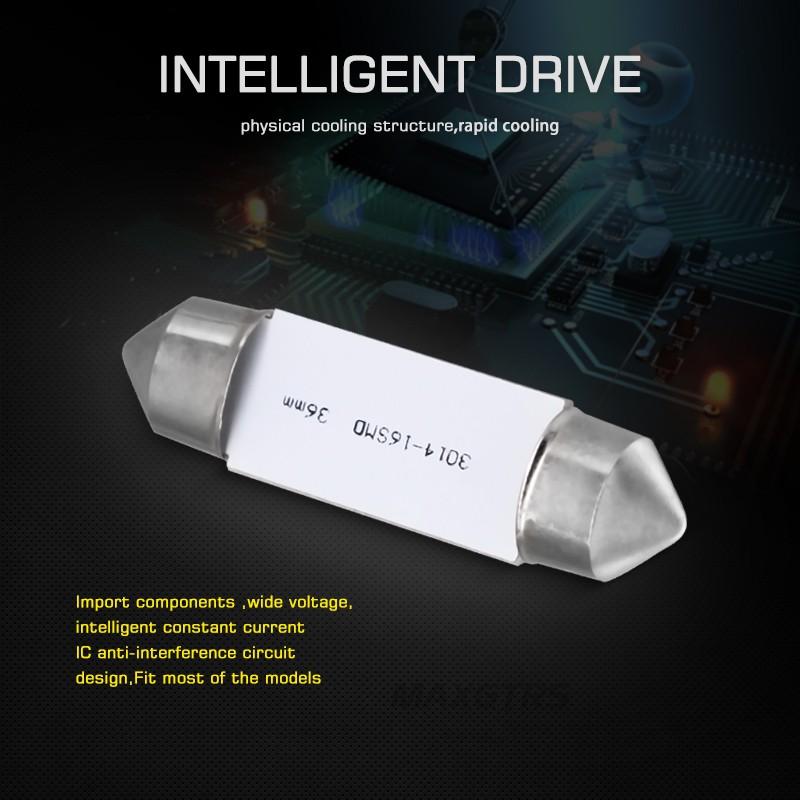 PURE White 8 SMD LED NUMBER PLATE INTERIOR LIGHT 1 x Festoon 42mm C10W SV8