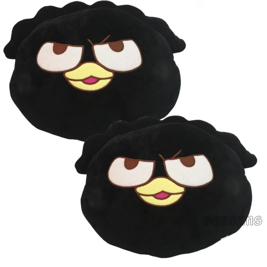 หมอนรองคอรูปหน้า  #Bad Badtz-Maru (สีดำ /แพ๊คคู่ )  SALE!!!! ใบใหญ่