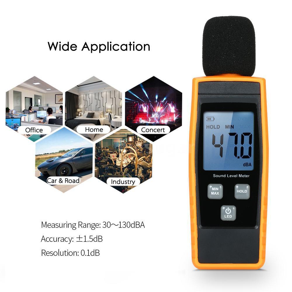 ??M&S LCD Digital Sound Level Meter DB Meters 30-130dBA Noise Volume  Measuring