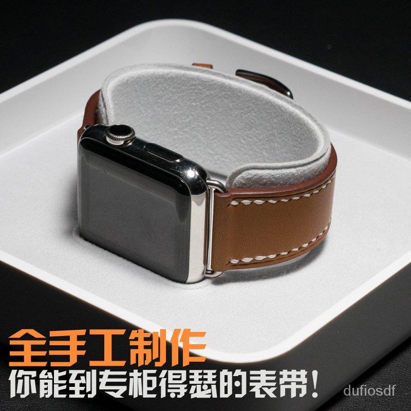✨แฟชั่น⏰สายนาฬิกา Apple🎈กันน้ำในฤดูร้อน😊iwatchสาย มือหนังapplewatchสายนาฬิกาสำหรับแอปเปิ้ลSeries6/54/321 uu1f