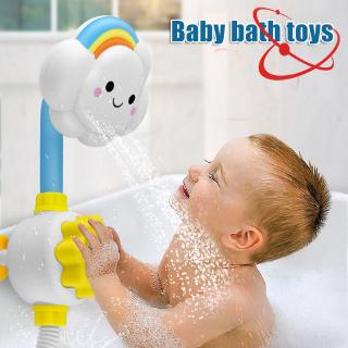 Baby Bath Toys Flower Shower Head Bathtub Bathing Water Game Watering Sprayer for