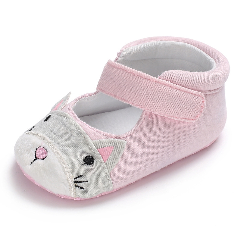 Mary Jane Ballet Dress Baby Toddler First Walkers Crib Shoes With Cartoon Rabbit