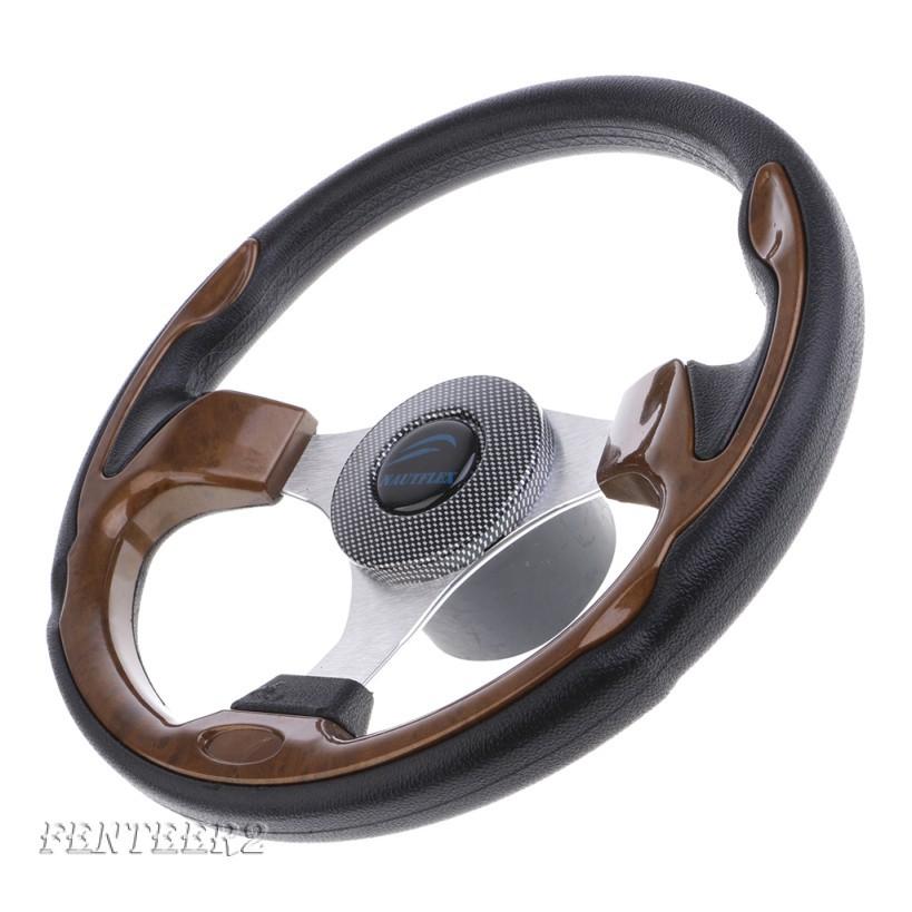 "320mm Aluminum Alloy Marine Boat Pontoon Steering Wheel 3 Spoke 3//4/"" Shaft"