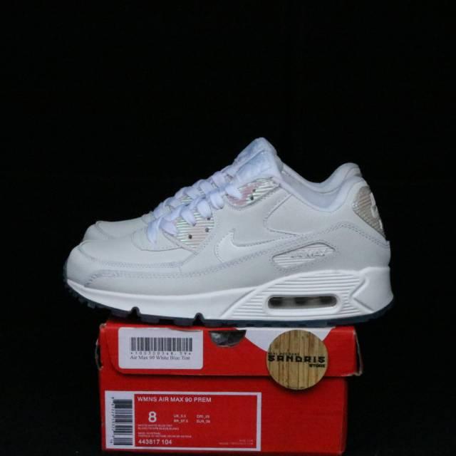 Nike Airmax 90 รองเท้ากีฬาแฟชั่นสีขาว/สีฟ้า