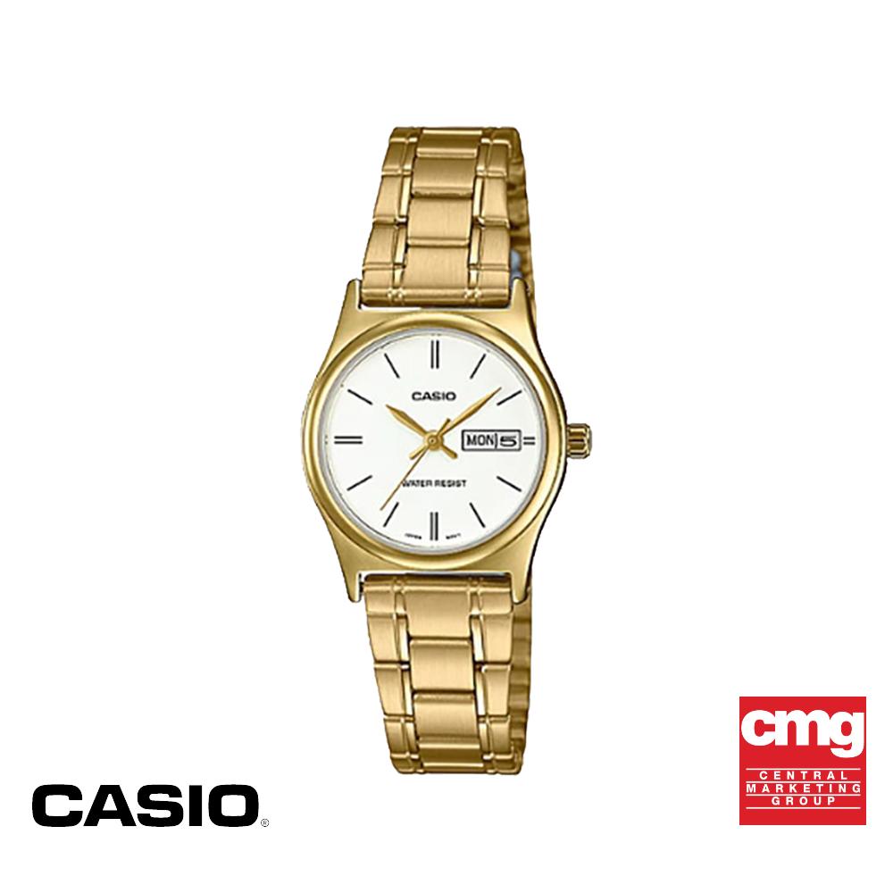 จัดส่งฟรีCASIO นาฬิกาข้อมือ GENERAL รุ่น LTP-V006G-7BUDF นาฬิกากันน้ำ สายสแตนเลส