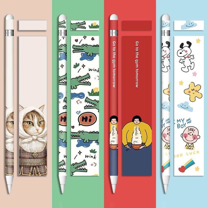 【สไตลัส】[Frosted] Apple pen pencil sticker creative generation second non-slip protective film ipadpencil stylus cove
