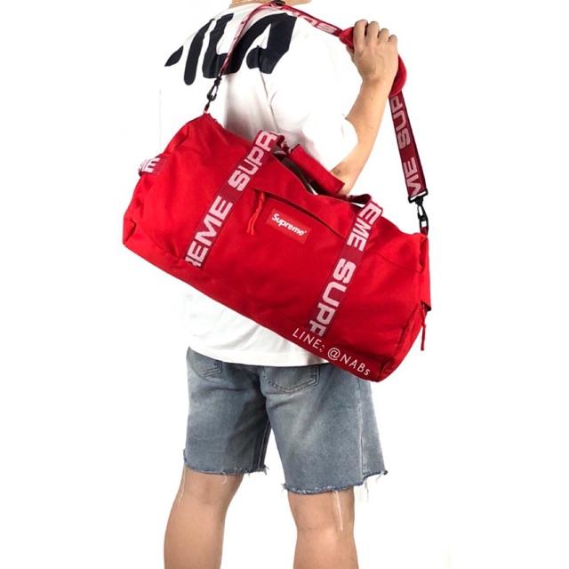 ส่งฟรี !!! กระเป๋าเดินทาง Supreme Duffle Bag SS'18 ไฮเอนด์ - N006 (สายปรับความยาวได้ จุของได้เยอะ)
