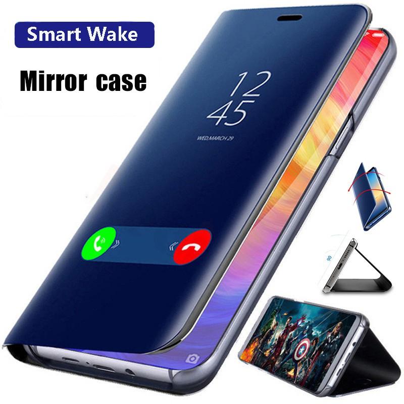 เคสโทรศัพท์เคสฝาพับเคสแข็ง เคสกระจกเงา สำหรับ ซัมซุง Samsung Galaxy A12 A02S A42 A32 5G เคสกันกระแทก เคสแฟชั่น Phone Case