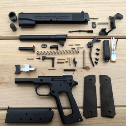 ✺◆1:2.05 อัลลอยเอ็มไพร์ M1911 Colt จำลองปืนพกรุ่นไม่สามารถยิงโลหะทั้งหมดที่ถอดออกได้