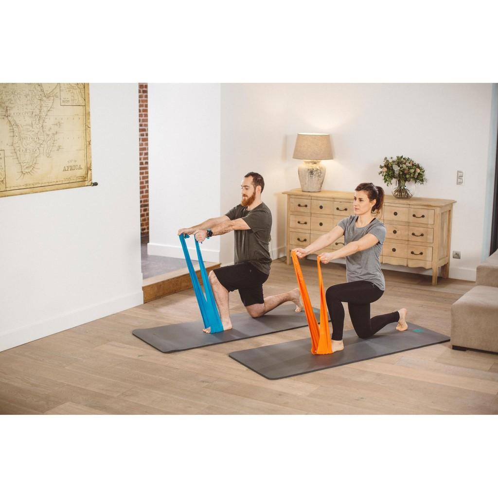 ยางยืดออกกำลังกาย  ฟิตเนส พิลาทิส แรงต้าน 3 ระดับ Domyos แท้ผ้ายืดออกกำลังกาย ยางยืดแรงต้าน  ยางยืดออกกำลังกายแรงต้านสูง