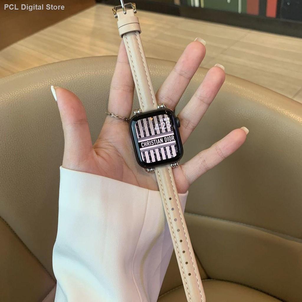 【อุปกรณ์เสริมของ applewatch】❃✻เหมาะสำหรับสาย Applewatch 21 ใหม่เอวเล็กสายหนัง iwatch รุ่น SE654321