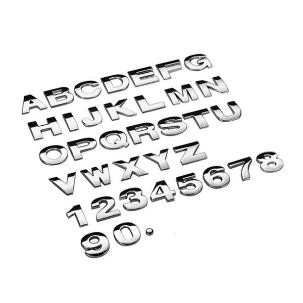 1 x 25 มม. สติกเกอร์โลหะ DIY 3D ลายตัวอักษร สำหรับตกแต่งรถยนต์ -มีดีลอีกเพียบในร้าน
