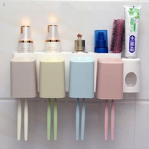 ที่แขวนฝักบัว,  ราวแขวนผ้าติดผนัง◇1/2/3/4 ที่ใส่แปรงสีฟัน + ชุดบีบยาสีฟันกล่องยาสีฟันถ้วยน้ำยาล้างจานถ้วยติดผนังที่ไม