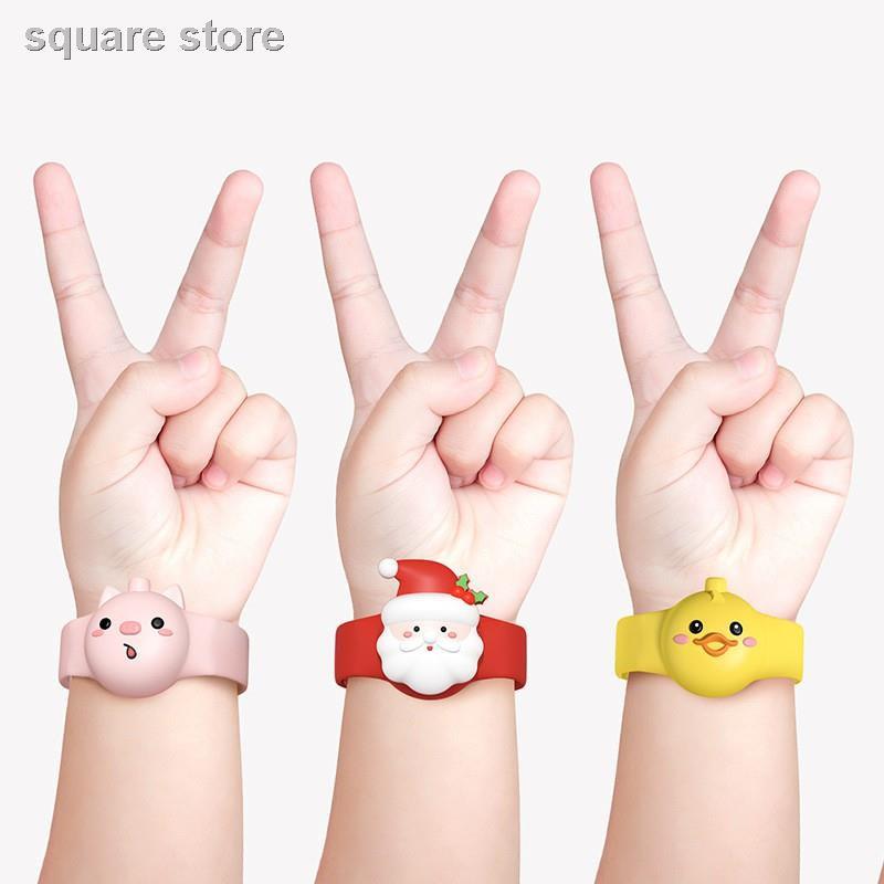 ✢◆สายรัดข้อมือใส่เจลล้างมือเด็ก 2 ชิ้น สินค้าข้ามพรมแดน นาฬิกาสะดวก สร้อยข้อมือซิลิโคนเจลทำความสะอาดมือ เด็กรุ่นผู้ใหญ่