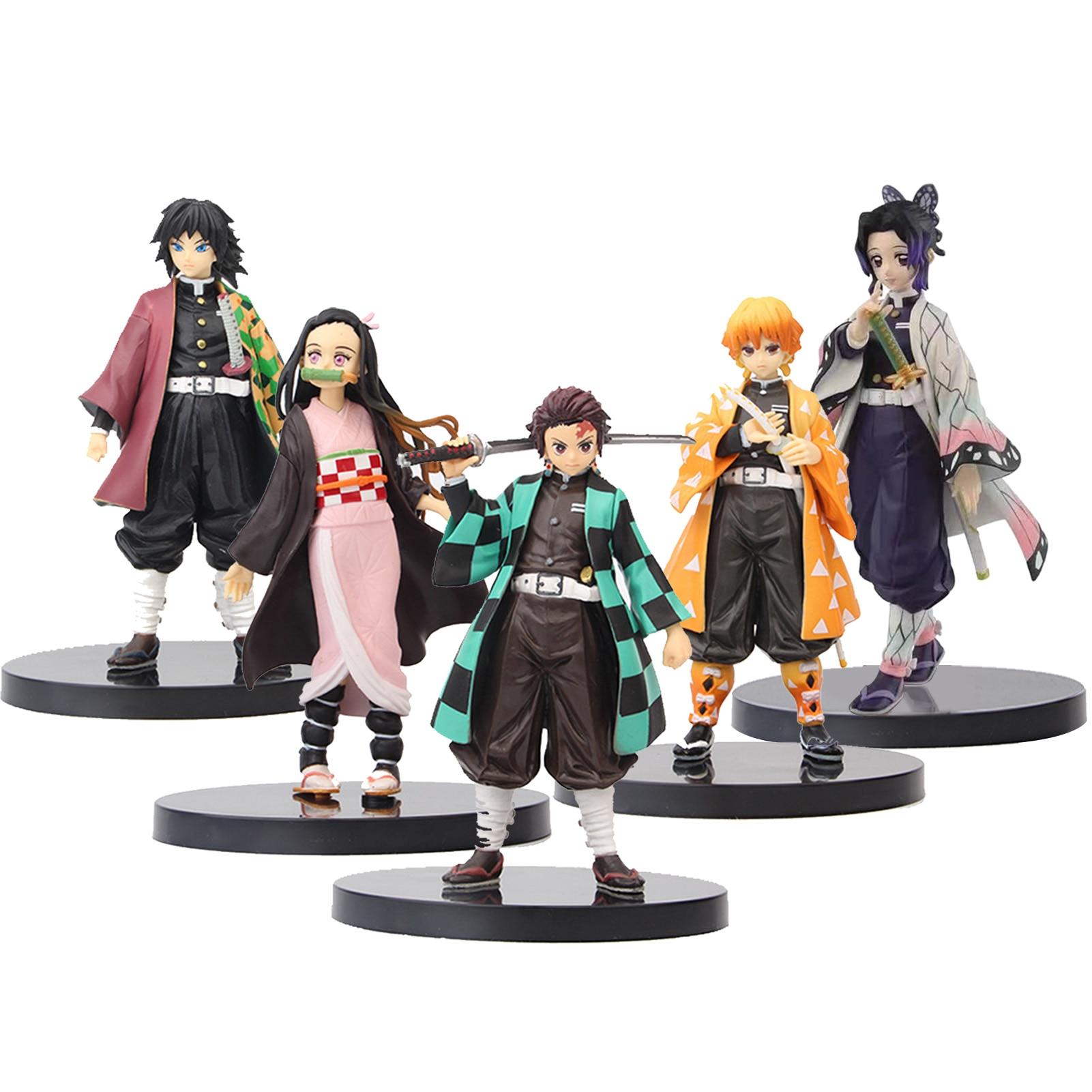 Japanses Anime Demon Slayer PVC Action Figure Toy Kochou Shinobu Tomioka Giyuu Model Figuals Dolls Toys Gifts