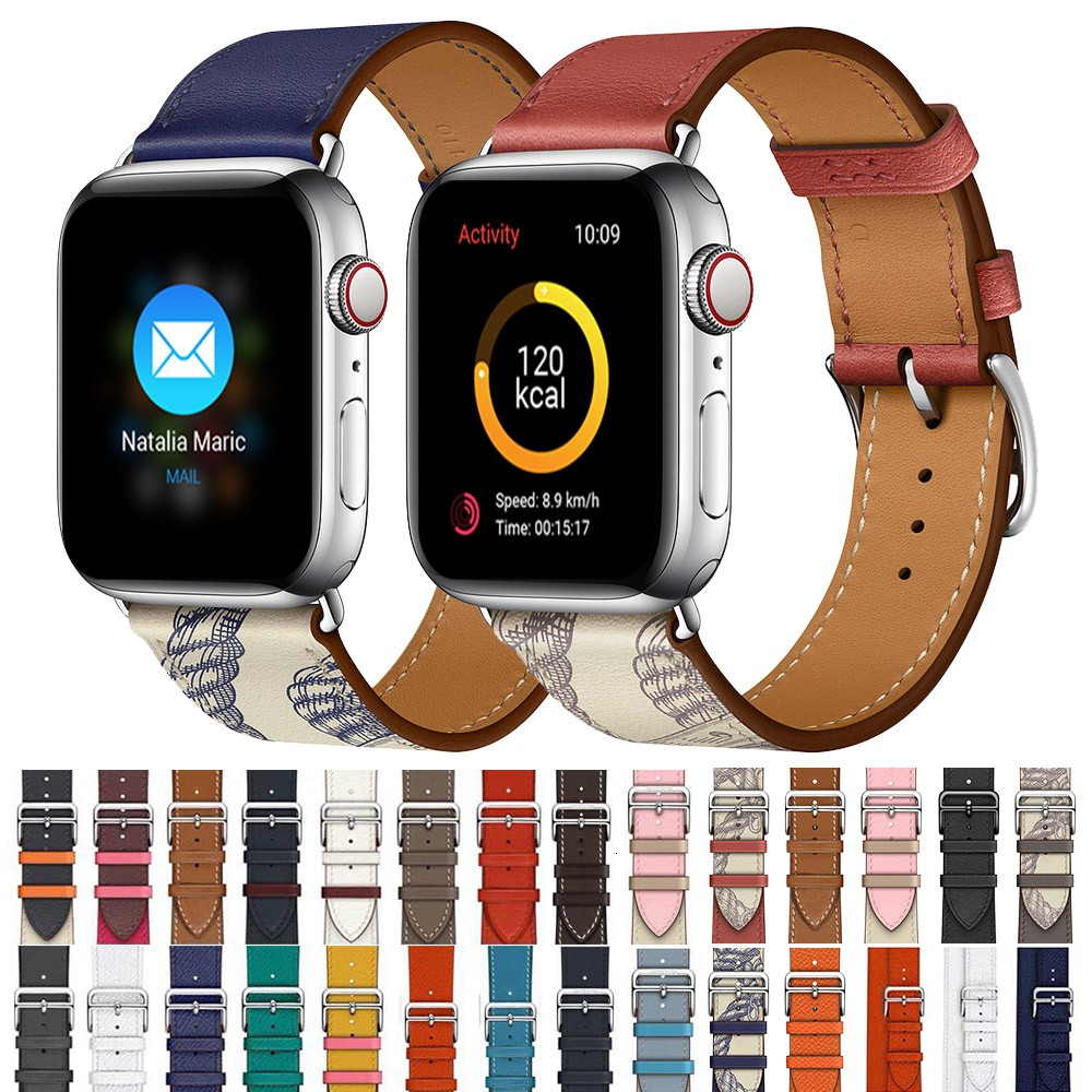 สายเปลี่ยนสำหรับ applewatch Apple Watch series se 6 5 4 3 2 1 สายหนัง 44mm 42 มม. 40 มม. 38 มม.