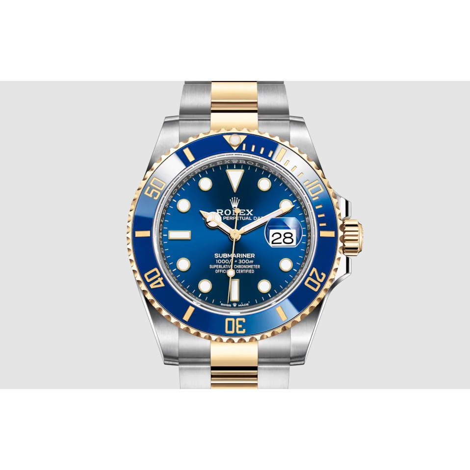 นาฬิกา Watch Rolex Oyster SUBMARINER DATE Oyster 41 มม Oystersteel และทองคำ