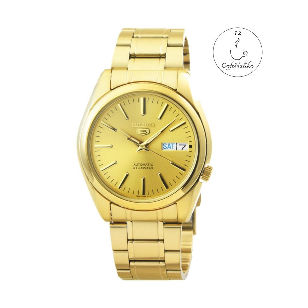 นาฬิกา ไซโก้ ผู้ชาย Seiko 5 รุ่ย SNKL48K1 Automatic 21 Automatic Men's Watch Stainless หน้าปัทม์สีทอง สายสีทอง Gold ของเ