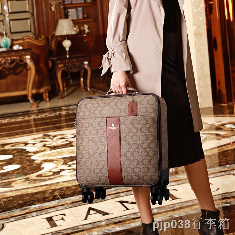 ☍✲✚กระเป๋าเดินทาง กระเป๋าเดินทางหญิง กระเป๋าเดินทางใบเล็ก น้ำหนักเบา กระเป๋าล้อลาก 2021 ใหม่ กระดานขนาด 16 นิ้ว เคส 18 น
