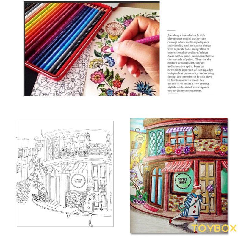 ★ Coloring Mandalas Book Books for Adults Kids Antistress Books Antistress Secret Garden Quiet Color Drawing Decompression ★