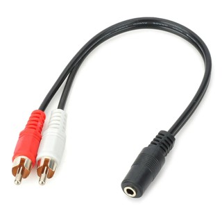 Review 3.5Mm Stereo Audio Female Jack To 2 Rca Male Socket To Headphone Cable
